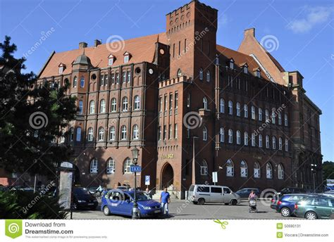 national bank of poland gdansk poland august 25 historic building national bank