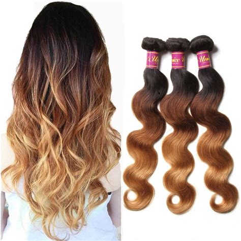 ombre human braiding hair unice 3 bundles brazilian ombre body wave human hair unice