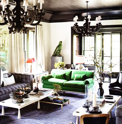 Sofa For Living Room by Black Ceiling Black Ornate Pendents Green Sofa Living Room