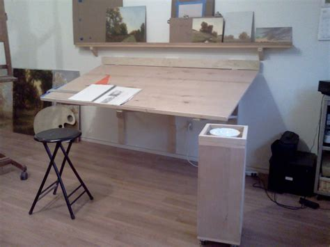 The Gallery For Gt Wall Mounted Drafting Table Plans