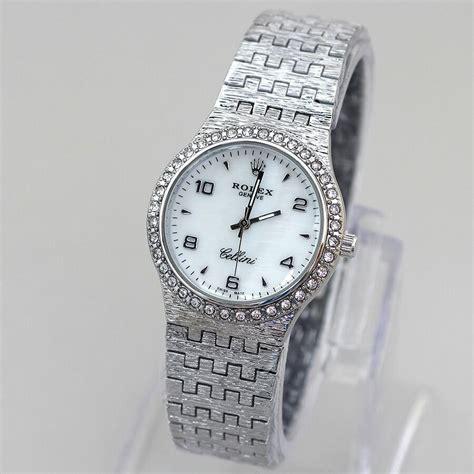 Jam Tangan Wanita Cewek Murah Hermes Kuda Rantai Kombinasi Putih jam tangan wanita rolex cellini vc 67 rantai harga murah