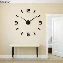 Contemporary Wall Clocks For Living Room Modern Design 3d Big Mirror Wall Clocks Foam Clock