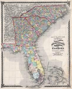 map of northern carolina county map of carolina south carolina and