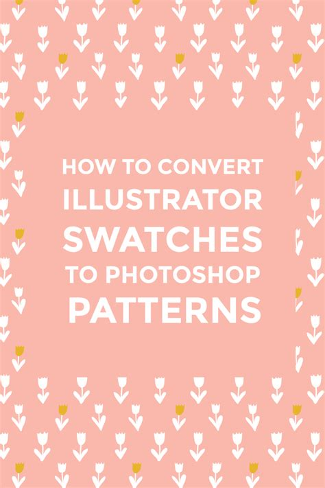 Photoshop Pattern To Illustrator | how to convert illustrator swatches to photoshop patterns