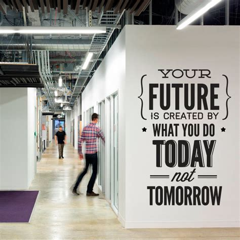 technology office decor wall decal quotes vinyl quote do it today not tomorrow