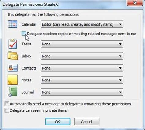 How To Access My Calendar Outlook 2010 Granting Delegate Access To Your Email