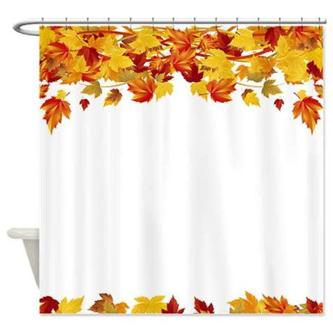 Fall Shower Curtain by Makanahele Autumn Leaves 6 Shower Curtain