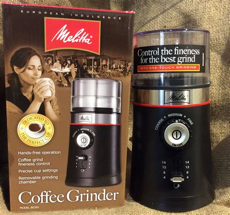 Melitta Electric Coffee Grinder With Custom Cup Melitta Coffee Grinder 14 Cups Electric Free