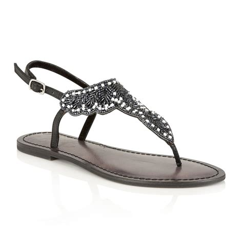 flat embellished sandals buy ravel langlois flat sandals in black