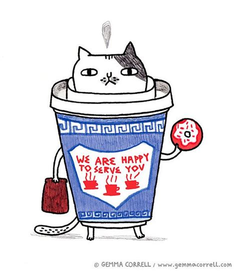 Coffee Cat (NY Icons series)   Icons, Coffee and Cat