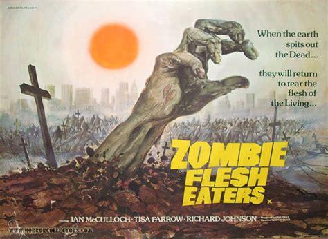 zombi 2 zombie flesh eaters 1979 horror thai movie zombie flesh eaters british quad poster horrorcollectors