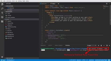 firebase npm tutorial bagian 8 membuat aplikasi to do list dengan react native