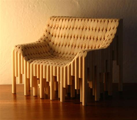 Furniture Dowels by Chair Made From 374 Wooden Dowels Neatorama