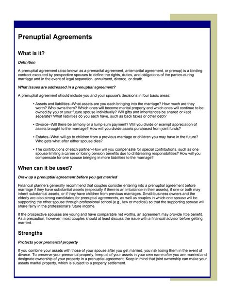 31 Free Prenuptial Agreement Sles Forms Free Template Downloads Prenup Template Free