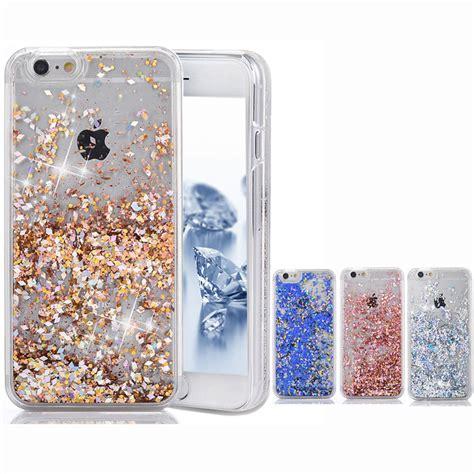 Iphone 7 Plus Make A Wish Aqua Glitter 3d creative liquid glitter bling moving
