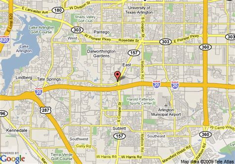 arlington texas map map of best western cooper inn and suites arlington