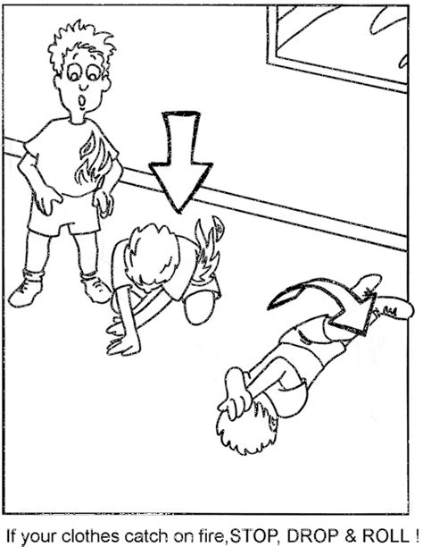 printable coloring pages fire prevention coloring books