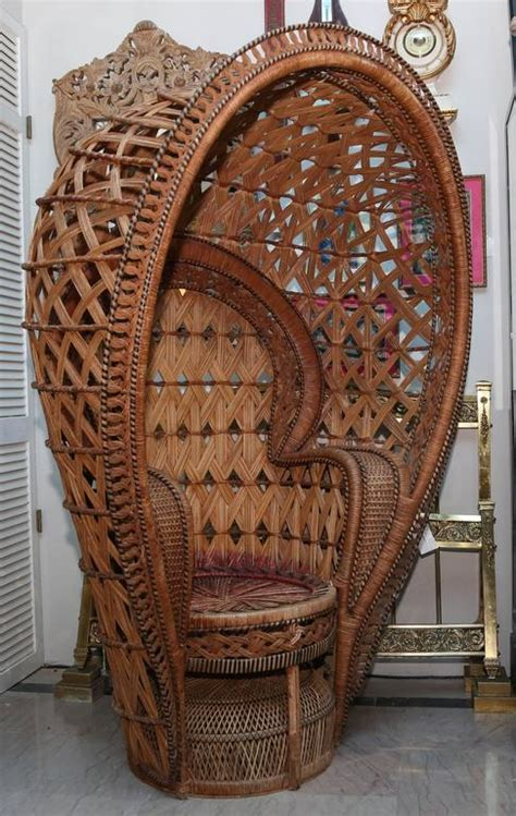 quintessential anglo indian peacock chair  sale
