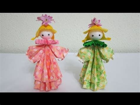 How To Make A Doll Out Of Paper - tutorial how to make 3d paper doll flower