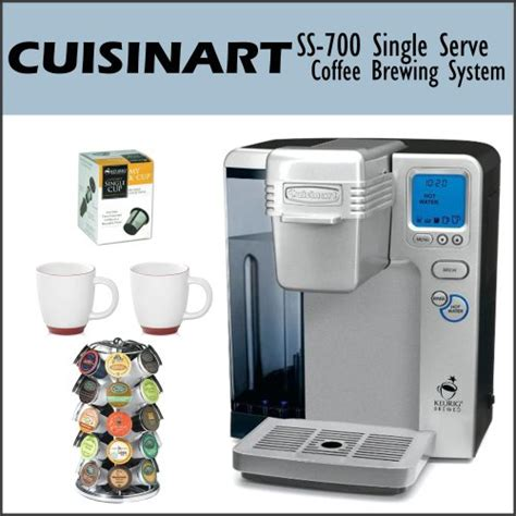 Cuisinart SS 700 Single Serve Coffee Brewing System Bundle, Including   Keurig My K Cup Reusable