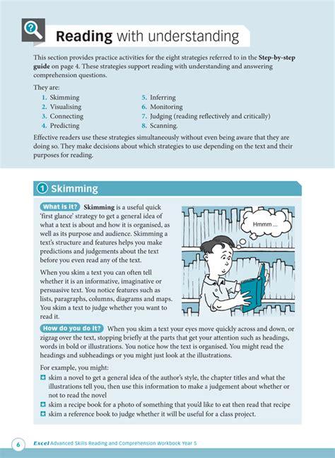 comprehension workbook year 5 excel advanced skills reading and comprehension workbook year 5 pascal press educational