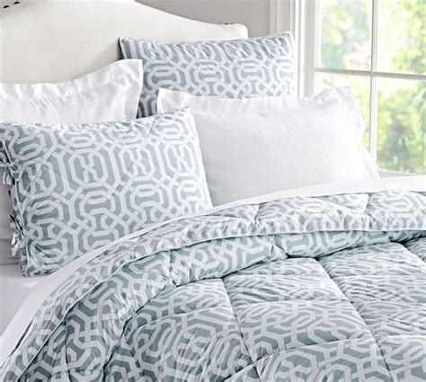 trellis comforter terri trellis comforter sham blue pottery barn