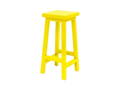 Solid Yellow Stool by Beachwood Designs Solid Oak Barstool In Yellow