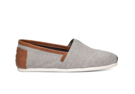 toms boots mens grey chambray s classics toms 174