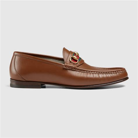 leather loafer gucci s horsebit leather loafer 386565arpa02599