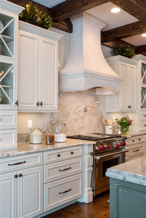 kitchen cabinets st louis mo white kitchen with wood beams st louis mo transitional