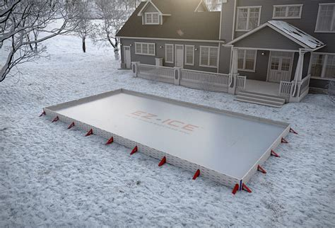 how to make an ice skating rink in your backyard ez ice rink