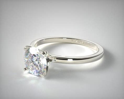 1 5mm comfort fit engagement ring 14k white gold 17740w14