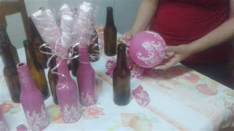 decoração em garrafa bexiga garrafa decorada bexiga f 225 cil youtube