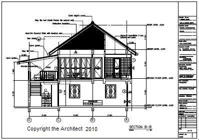 section of a house plan house drawings retiring in thailand