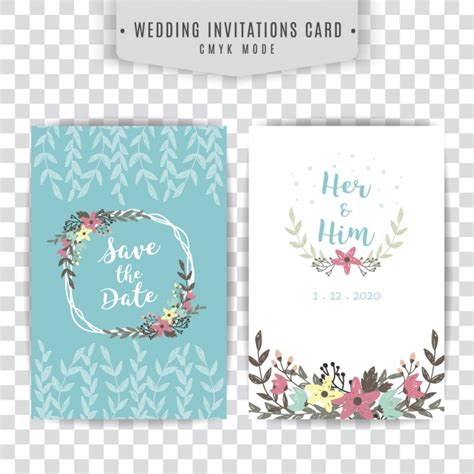 wedding card floral designs vector blue and white wedding card with floral design vector
