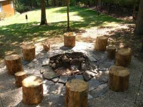 Rustic Outdoor Pit setting the big stones in with the gravel fixes the boring texture and would still look rustic