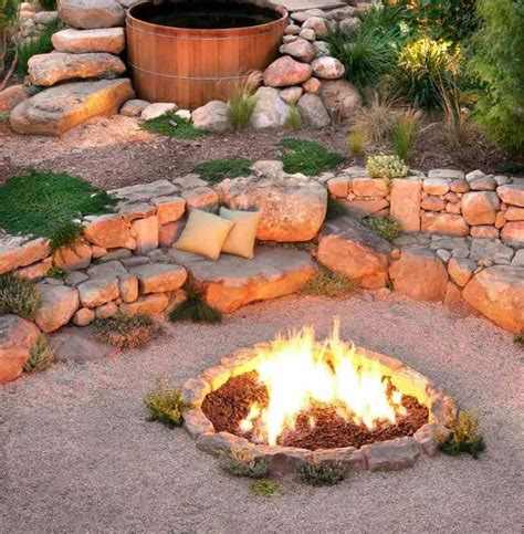 Garden Firepits Outdoor Pit Seating Ideas Corner