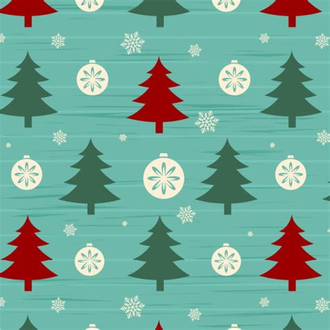 pattern for a christmas tree christmas tree with snow seamless pattern vector vector