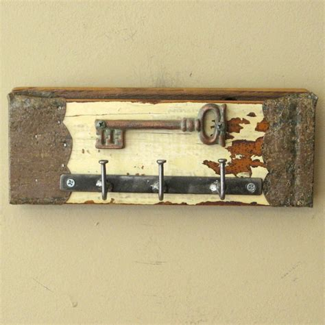 key holder wall bent nail wall key holder with cast iron skeleton key wall