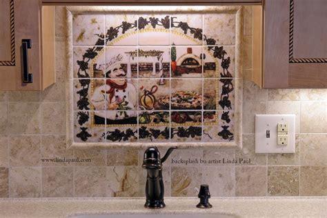 italian pizza kitchen tile backsplash tuscan decorating