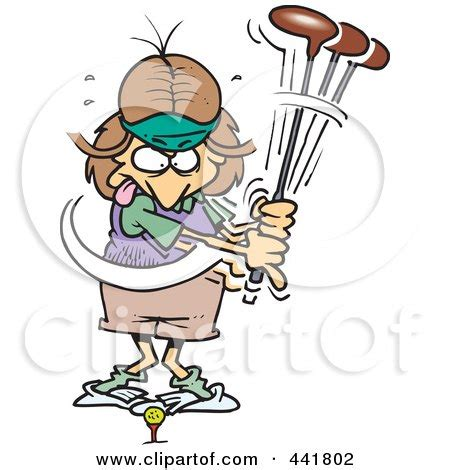 Royalty-Free (RF) Clipart of Female Golfers, Illustrations ... Women's Golf Cartoons Clip Art