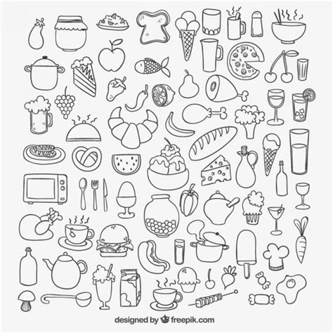 food doodle vector free icons of sketchy food vector free