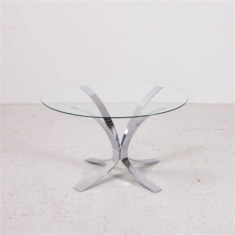 chrome coffee table with glass top vintage glass top coffee table with chrome plated base for