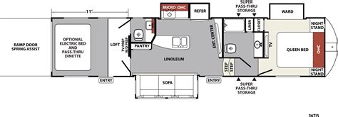 5th wheel toy hauler floor plans xlr nitro travel trailer fifth wheel toy haulers