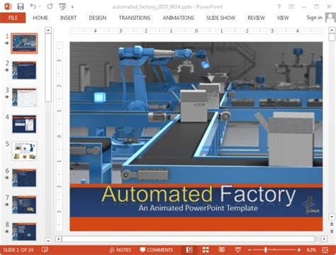 factory template animated factory powerpoint templates