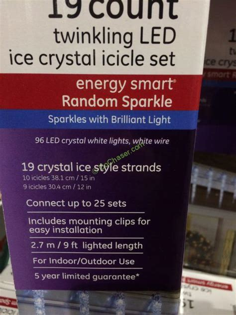 ge led icicle lights costco costco 739754 ge 19 count twinkling led molded icicle
