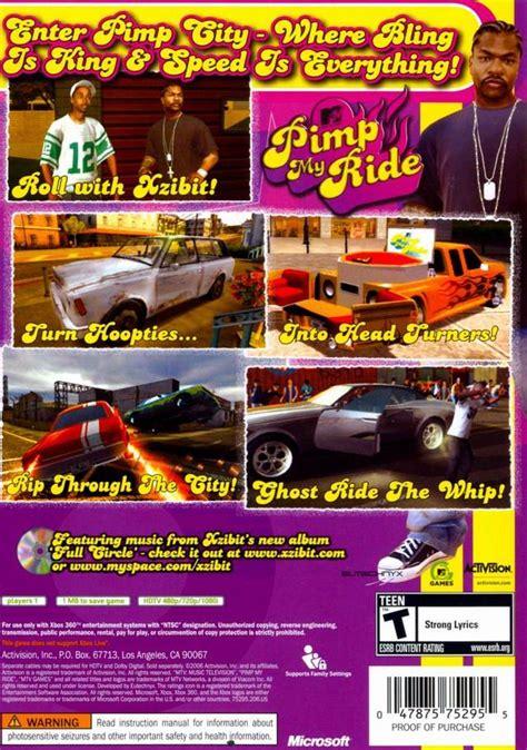 celebrity deathmatch game xbox 360 pimp my ride box shot for xbox 360 gamefaqs
