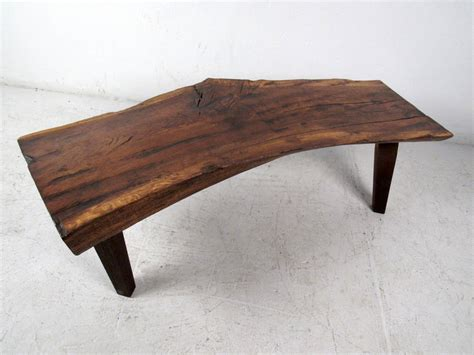 Tree Slab Coffee Table Free Edge Rustic Tree Slab Coffee Table At 1stdibs