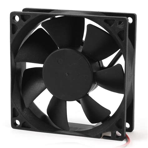 biggest pc case fan 80mm dc 12v 2pin pc computer desktop case cpu cooler
