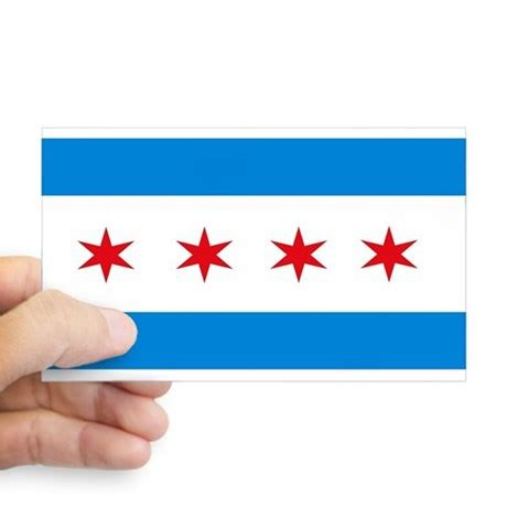 Chicago Flag Sticker chicago flag rectangle decal by chicagoflag
